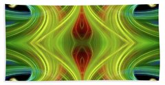 Abstract Of Swirls Beach Sheet by Linda Phelps