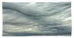 Abstract Of The Clouds 2 Beach Sheet by Gary Slawsky