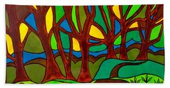 Abstract Of The Otter Pool Beach Towel