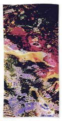 Abstract Of Water With Koi Beach Towel by Tim Good