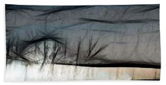 Abstract On River Beach Towel