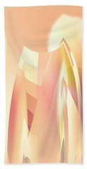 Beach Towel featuring the digital art Abstract Orange Yellow by Robert G Kernodle