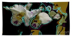 Abstract Orchids Beach Towel