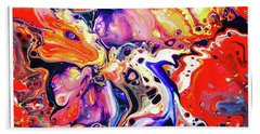 Abstract Painting Collection Beach Towel by Modern Art Prints