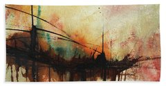 Abstract Painting Contemporary Art Beach Towel