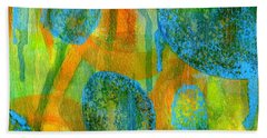 Abstract Painting No. 1 Beach Towel by David Gordon