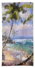 Abstract Palm Beach Path Beach Towel