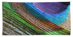 Abstract Peacock Feather Beach Towel