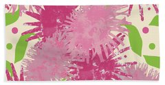 Abstract Pink Puffs Beach Towel