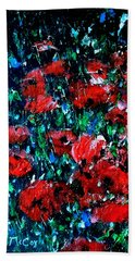 Abstract Poppies Beach Sheet