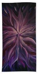 Abstract Purple Flower Beach Towel