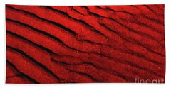 Abstract Red Sand- 2 Beach Towel