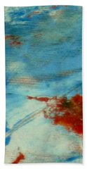 Abstract Red White Blue Beach Sheet by Patricia Cleasby