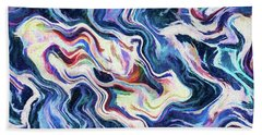 Abstract - Reefs And Shoals Beach Towel