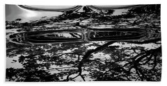 Abstract Reflection Bw Sq II - Vehicle Beach Towel