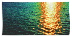 Abstract Reflections Digital Painting #5 - Delaware River Series Beach Towel