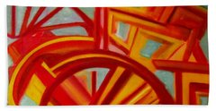 Abstract Riverboat Beach Sheet by Patricia Cleasby