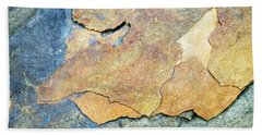 Beach Towel featuring the photograph Abstract Rock by Christina Rollo