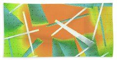 Beach Towel featuring the painting Abstract - Saws by Lenore Senior