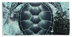 Abstract Sea Turtle Beach Towel