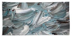 Beach Towel featuring the painting Abstract Series D010816 by Mas Art Studio