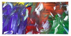Abstract Series E1015al Beach Towel