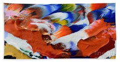 Beach Towel featuring the painting Abstract Series N1015al  by Mas Art Studio