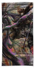 Abstract Sketch 1334 Beach Towel