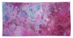 Abstract Square Pink Fizz Beach Towel