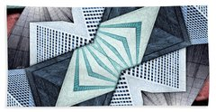 Abstract Structural Collage Beach Towel by Phil Perkins