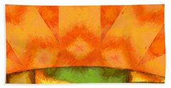 Abstract Sunrise Beach Towel