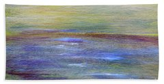 Beach Towel featuring the painting Abstract Sunset A11317 by MasArtStudio
