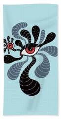 Abstract Surreal Double Red Eye Beach Towel