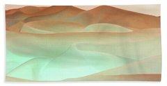Abstract Terracotta Landscape Beach Sheet