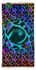Beach Towel featuring the digital art Abstract - The Fabric Of Life by Glenn McCarthy Art and Photography