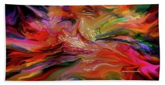 Abstract-the Wild Of The Sea Beach Towel