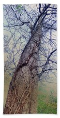 Abstract Tree Trunk Beach Towel