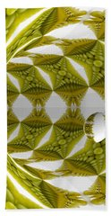 Abstract Tunnel Of Yellow Grapes  Beach Towel