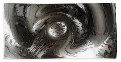 Abstract Underbelly Of The Bean, Chicago Il Beach Towel