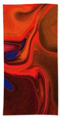 Abstract Union 2 Vertical Fire Beach Towel