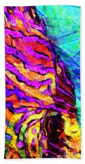 Beach Towel featuring the photograph Abstract Vibrant Tropical Fish Discus 20170910 by Wingsdomain Art and Photography
