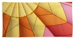 Abstract View Of Hot Air Balloon Beach Towel