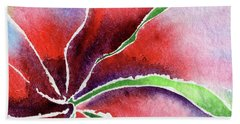 Abstract Watercolor Lily Flower Beach Towel