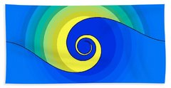 Abstract Wave In The Sunlight  Beach Towel