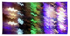 Abstract Waves Of Emotion #0609_24 Beach Towel