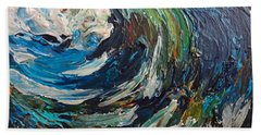 Abstract Wild Wave  Beach Towel