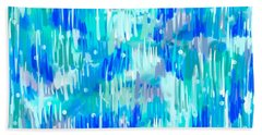 Abstract Winter Beach Towel