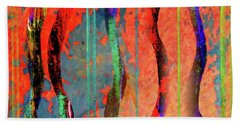 Abstract With Lines And Waves Beach Towel by Desiree Paquette