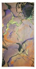 Beach Towel featuring the painting Abstract Woman by Raymond Doward