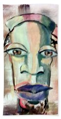 Beach Towel featuring the painting Abstract Young Man #2 by Raymond Doward